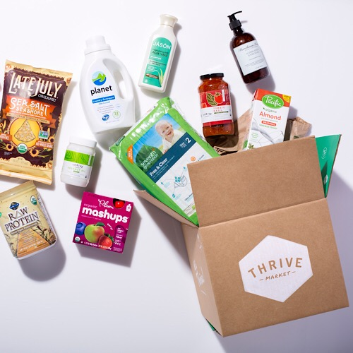 A selection of products from thrive.