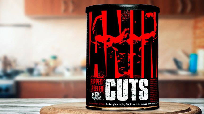 A can of Animal Cuts on a table.