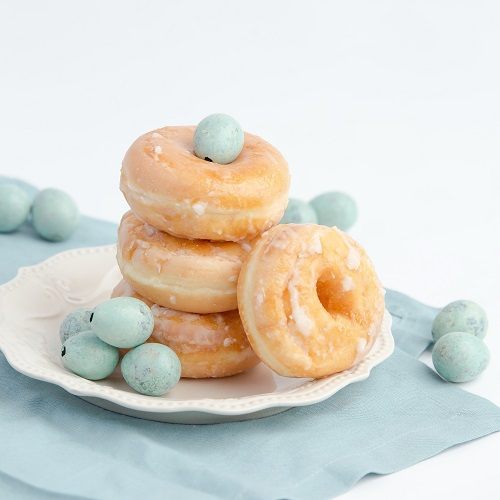A pile of donuts.