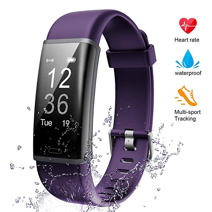Lintelek Fitness Tracker Color Screen Heart Rate Sleep Monitor Pedometer