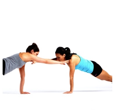 Move # 1: Push-ups With Partner Shoulder Tap