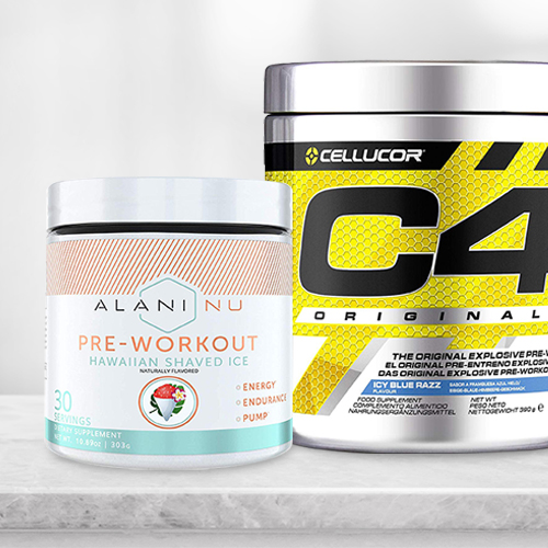 Cellucor C4 and Aluni NU side by side on a table.