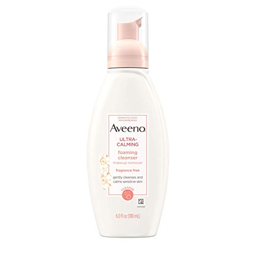 Aveeno Ultra-Calming Foaming Cleanser and Makeup Remover