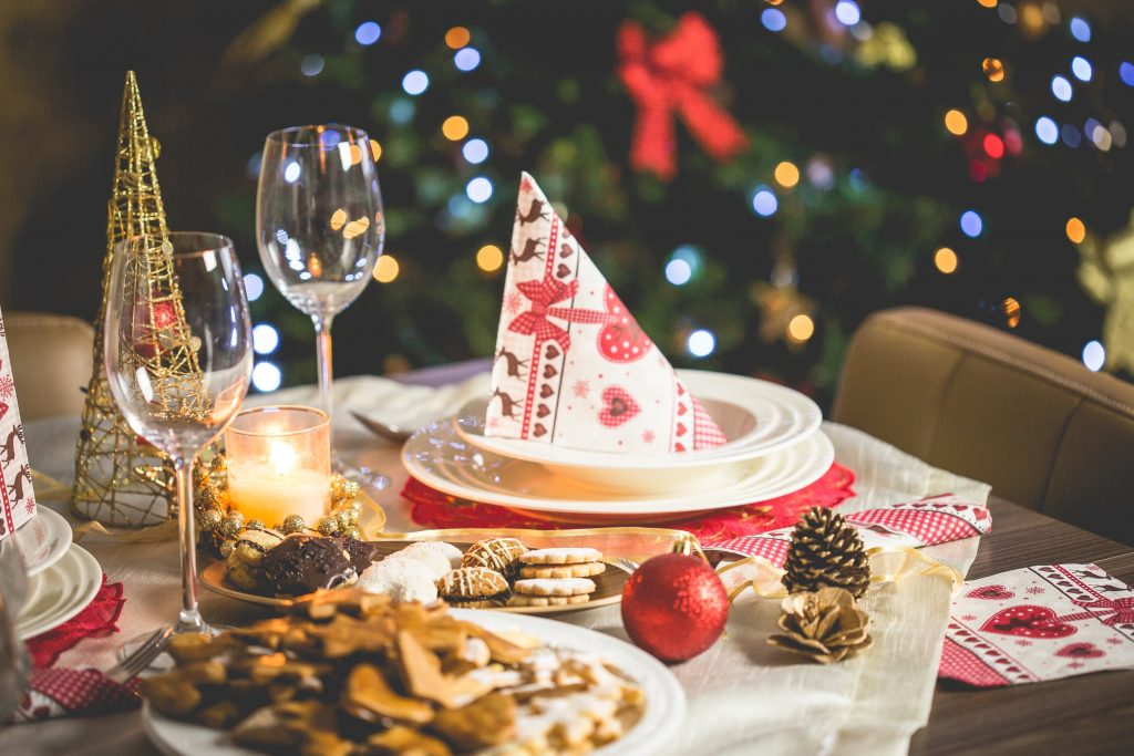 Close up of cookies and Christmas decorations on kitchen table. Can you control your sugar cravings?