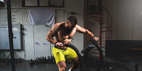 A man doing cardio workout