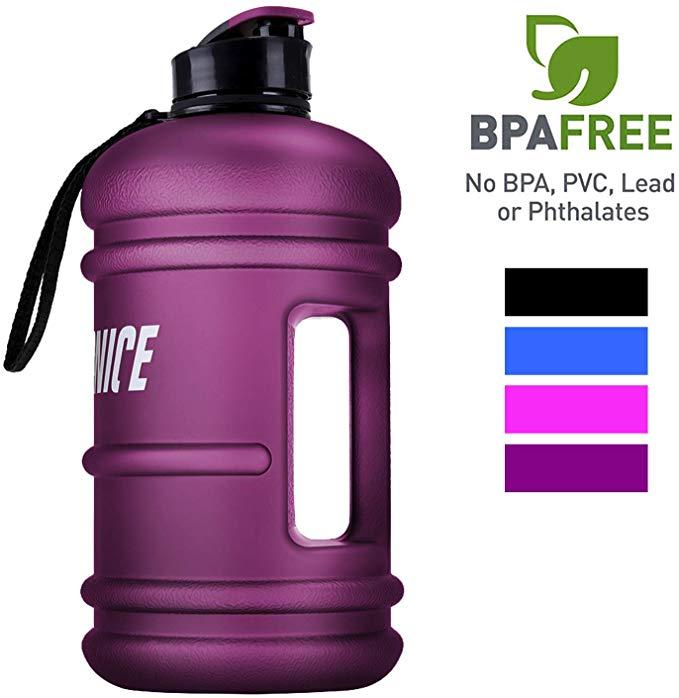 Moonice 2.2L Large Reusable Water Bottle