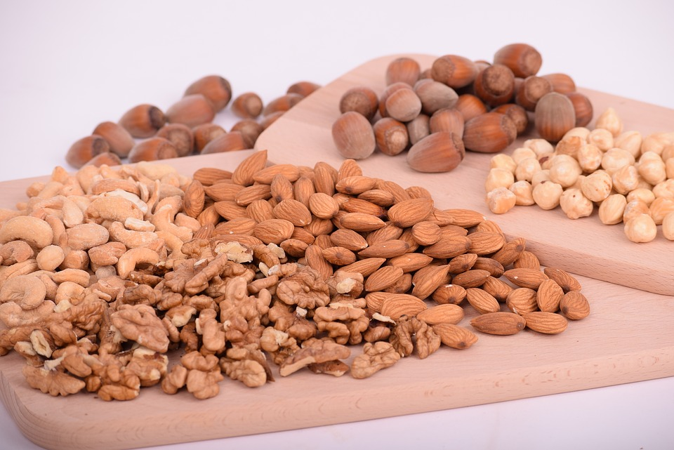 Selection of different kinds of nuts