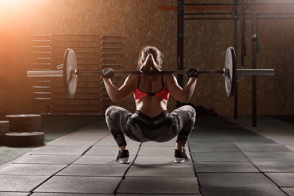 Woman doing squat excercise