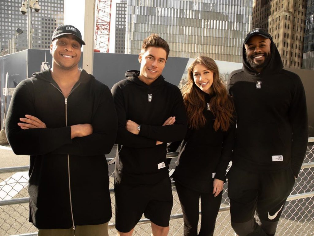 Corey Lewis, Andrea Denver, Mckenzie Paige Sanders, and Thomas Drew standing side by side.