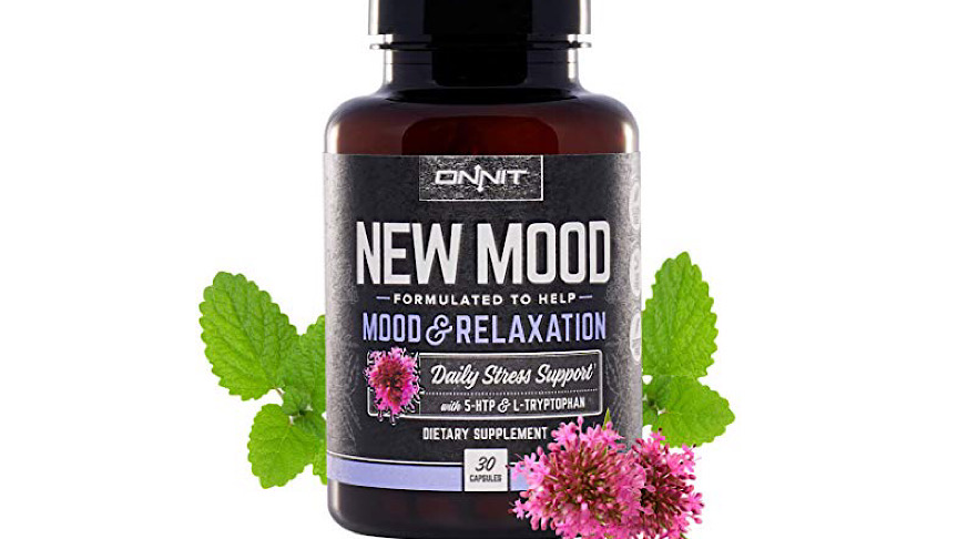 A bottle of Onnit New Mood Supplement