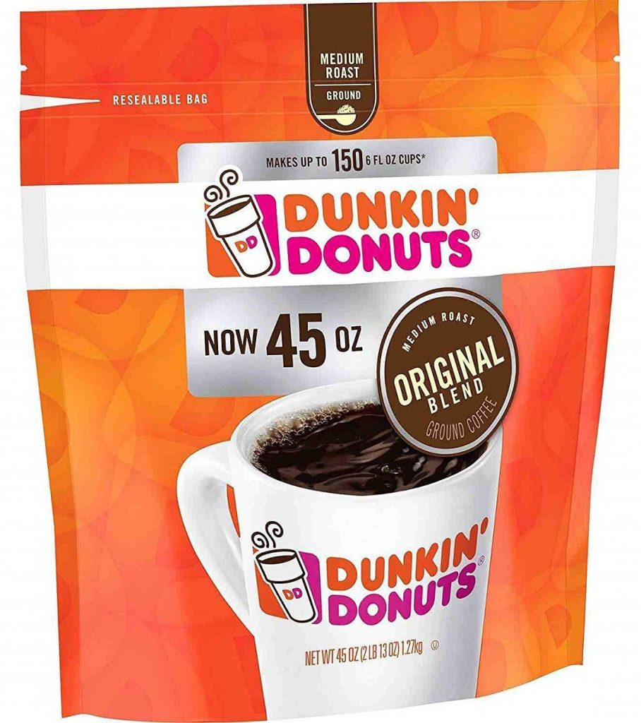 a bag of dunkin donuts ground coffee