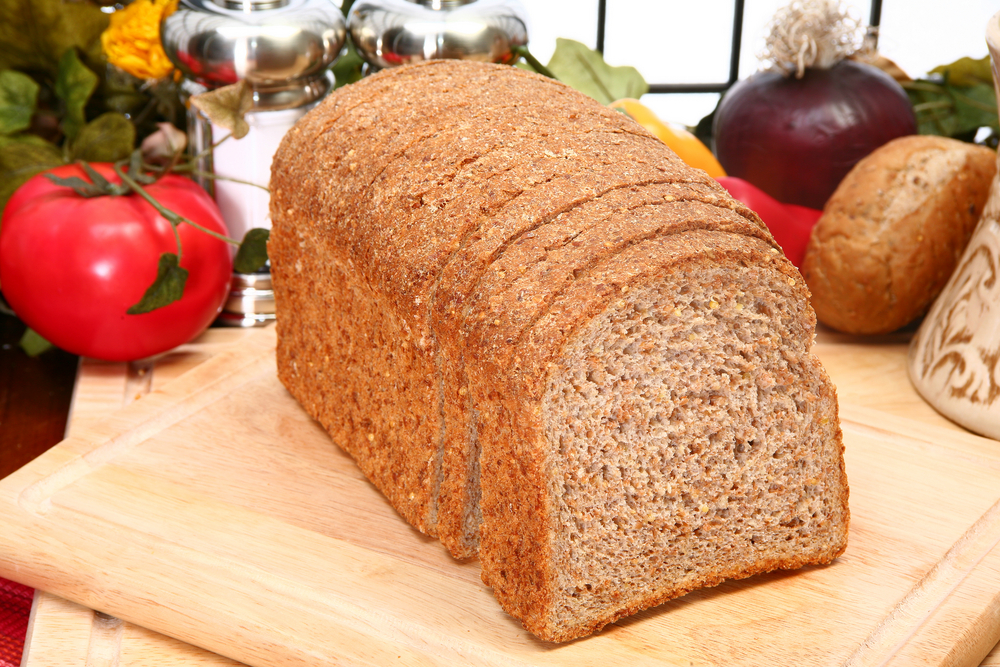 Ezekiel or Sprouted Wheat whole grain flourless Bread in kitchen or restaurant.