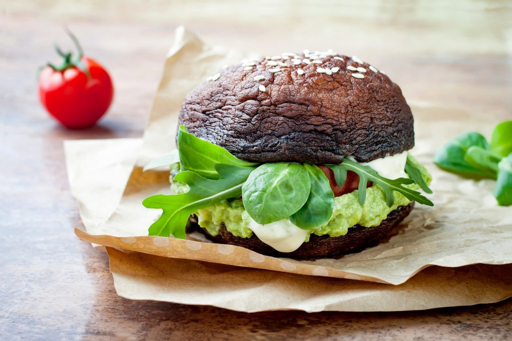 Portobello Mushroom burgers are a much lower calorie food than beef burgers.