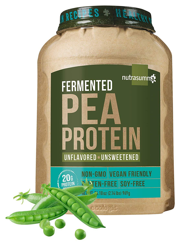 Nutrasumma 100% Plant Based Fermented Pea Protein Powder