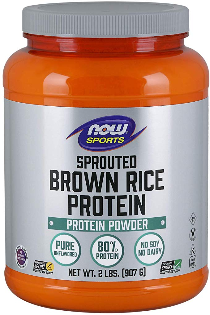 NOW Sports Nutrition Sprouted Brown Rice Protein