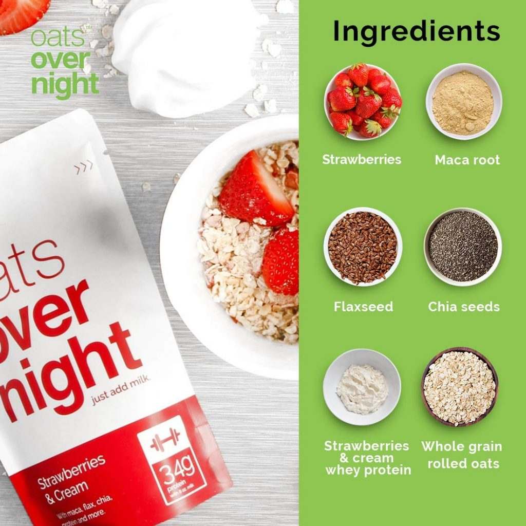 Oats Overnight Ingredients