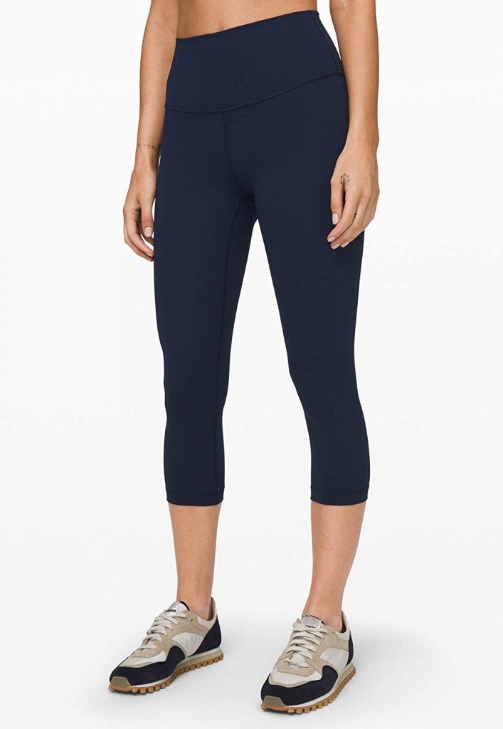 Lululemon Wunder Under Crop High Rise Yoga Pants, among the best gym clothes by this brand