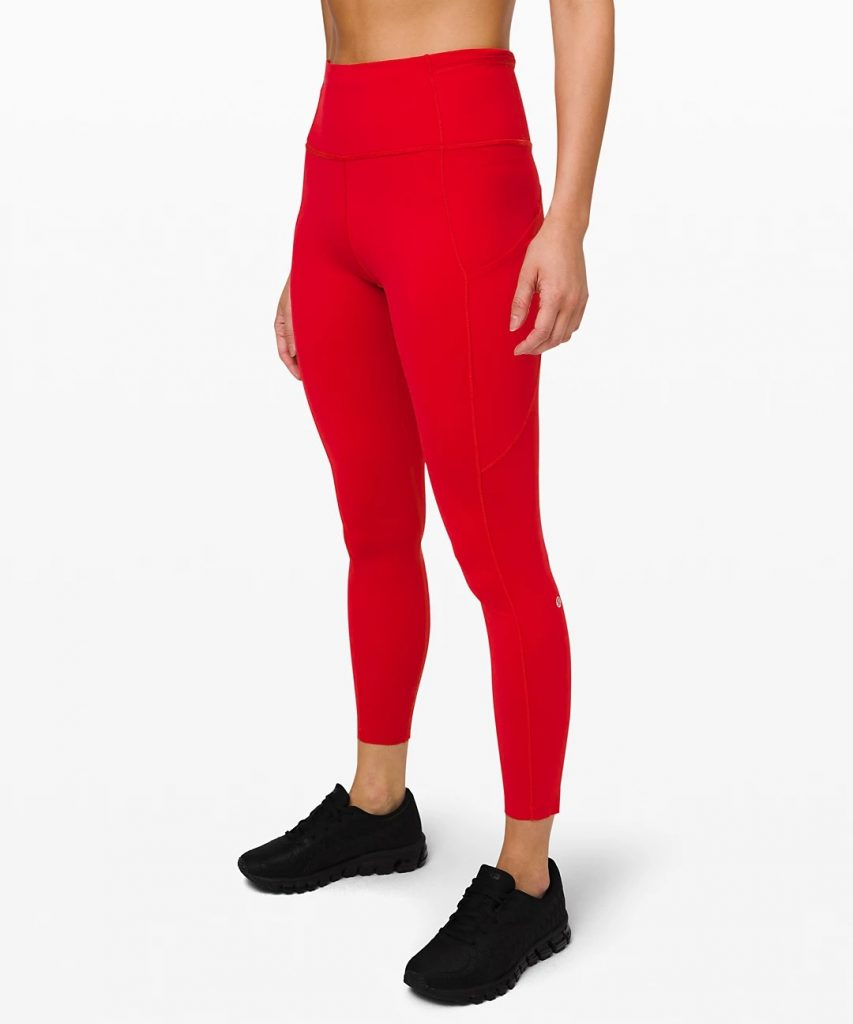 """Lululemon Fast and Free Tight II 25"""" Non-Reflective Nulux"""