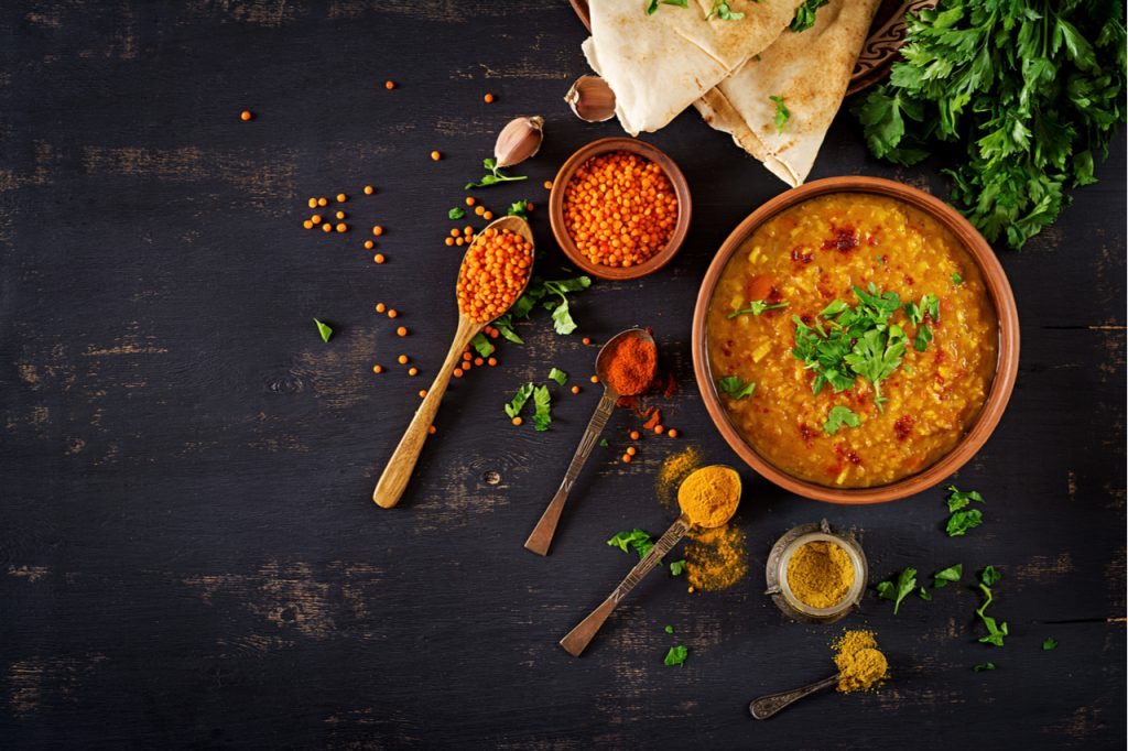 Traditional Indian soup lentils.