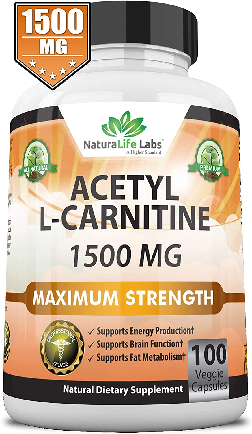 NaturaLife Labs Acetyl L-Carnitine, Maximum Strength