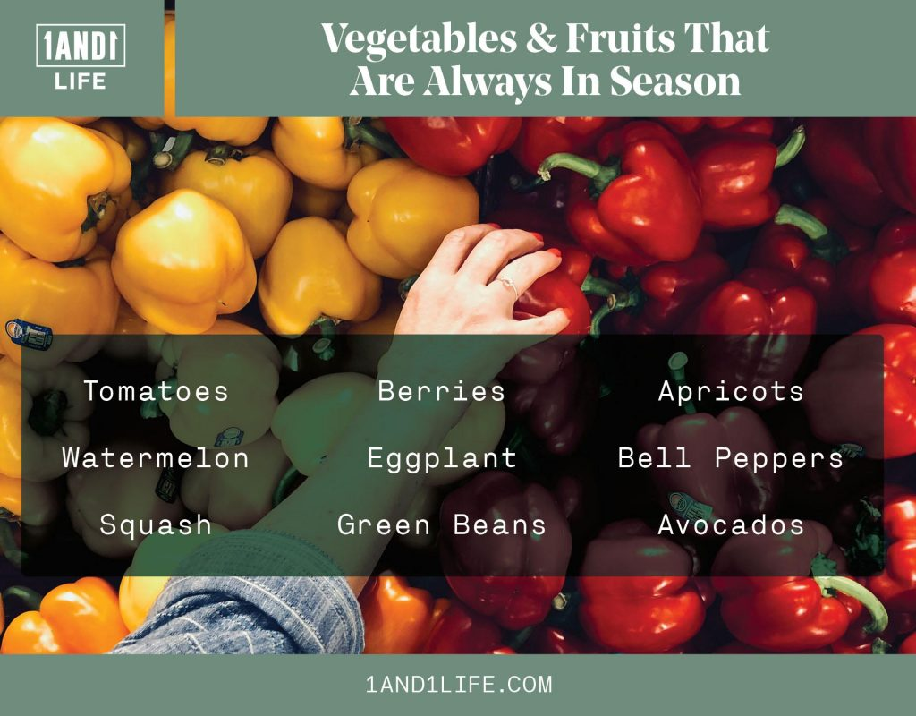 Vegetables & Fruits That Are Always In Season