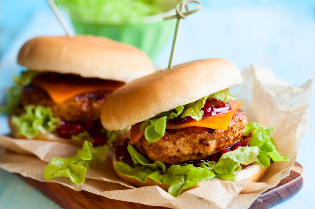 Turkey Burgers With Cranberry Sauce