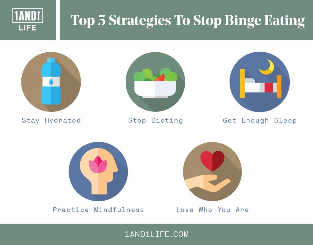 Top 5 Strategies To Stop Binge Eating