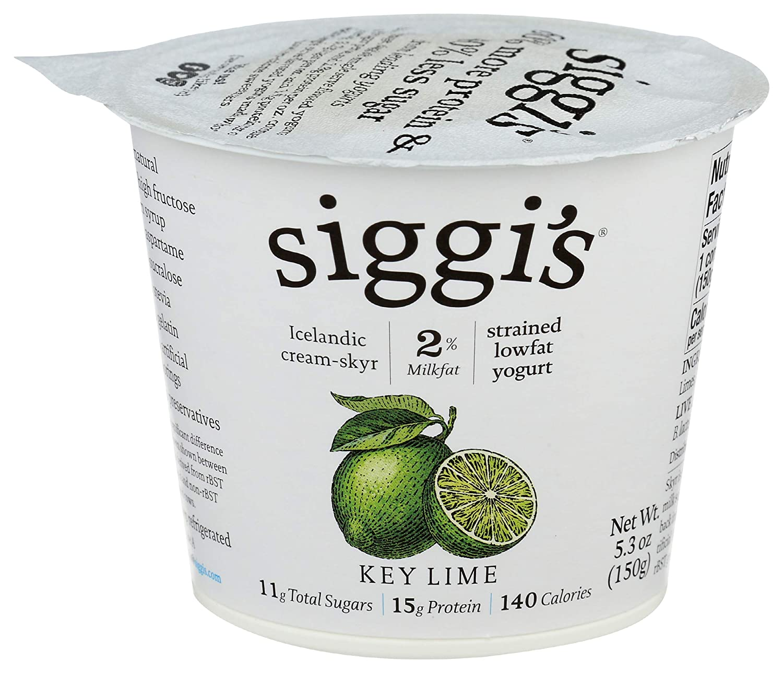 Siggi\'s, Yogurt Key Lime 2%, 5.3 Ounce