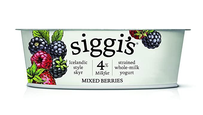 Siggi\'s Icelandic Milk and Skyr Whole Milk Yoghurt, Mixed Berries, 4.4 Oz