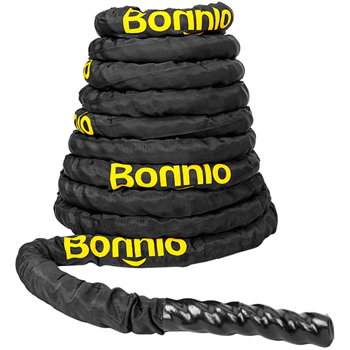 Bonnlo Battle Exercise Training Rope with Protective Cover