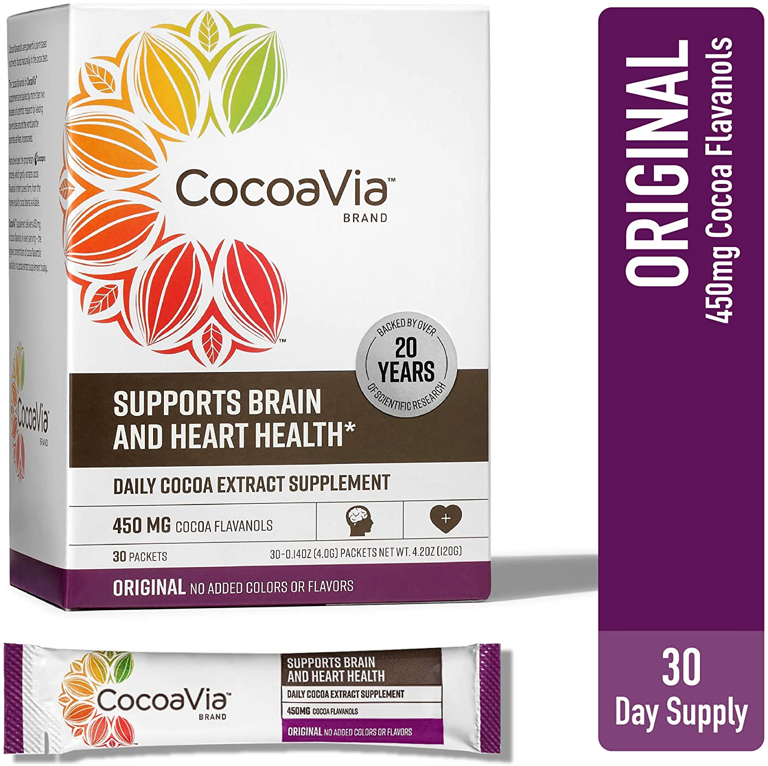 CocoaVia Cocoa Flavanol Powdered Drink Mix