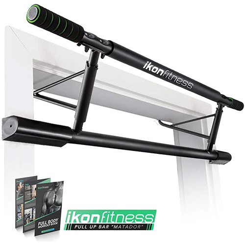 Ikonfitness Pull Up Bar with Smart Larger Hooks Technology