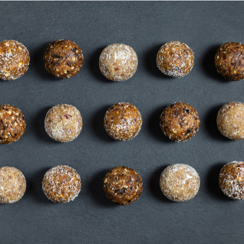 Energy balls on a dark background.