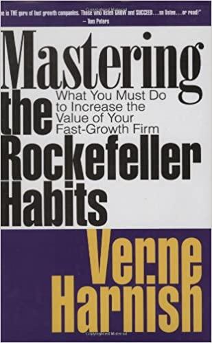 Mastering the Rockefeller Habits by Verne Harnish