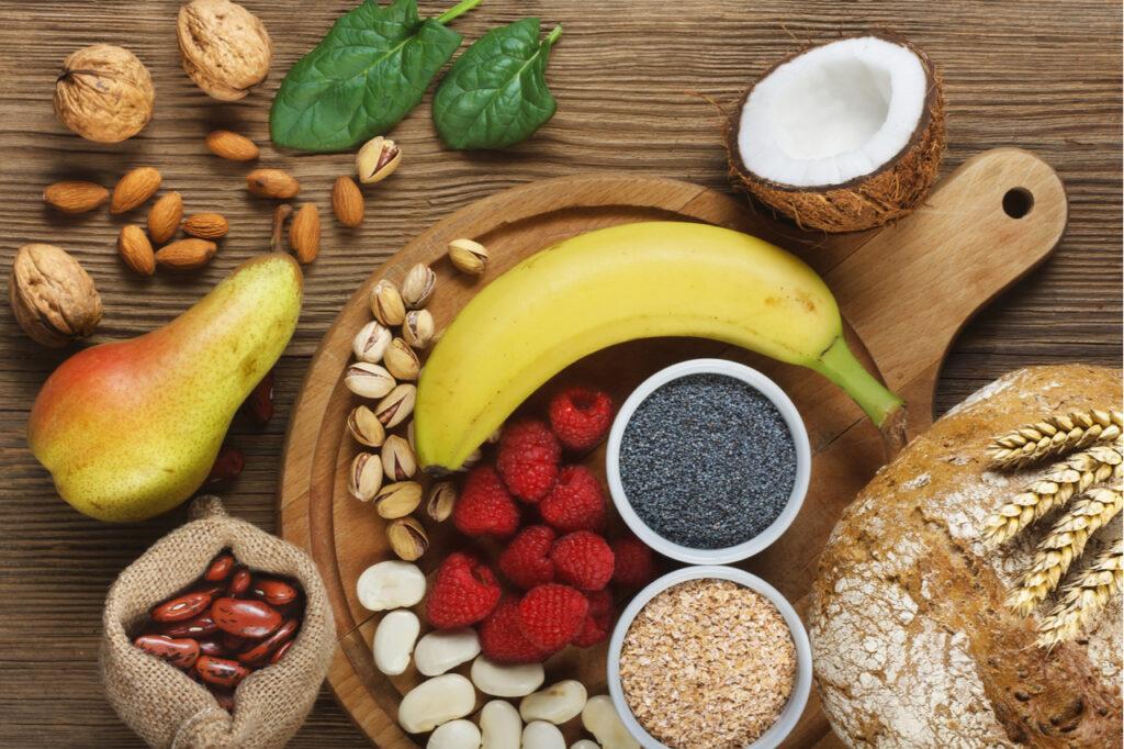 Food rich in fiber.