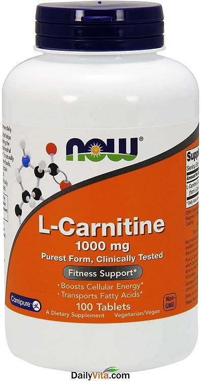 NOW Foods L-Carnitine Tartrate 1000mg