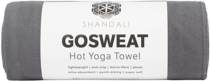 SHANDALI GoSweat Non-Slip Hot Yoga Towel