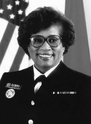 Pediatrician Dr. Joycelyn Elders was the first black American to serve as Surgeon General of the United States