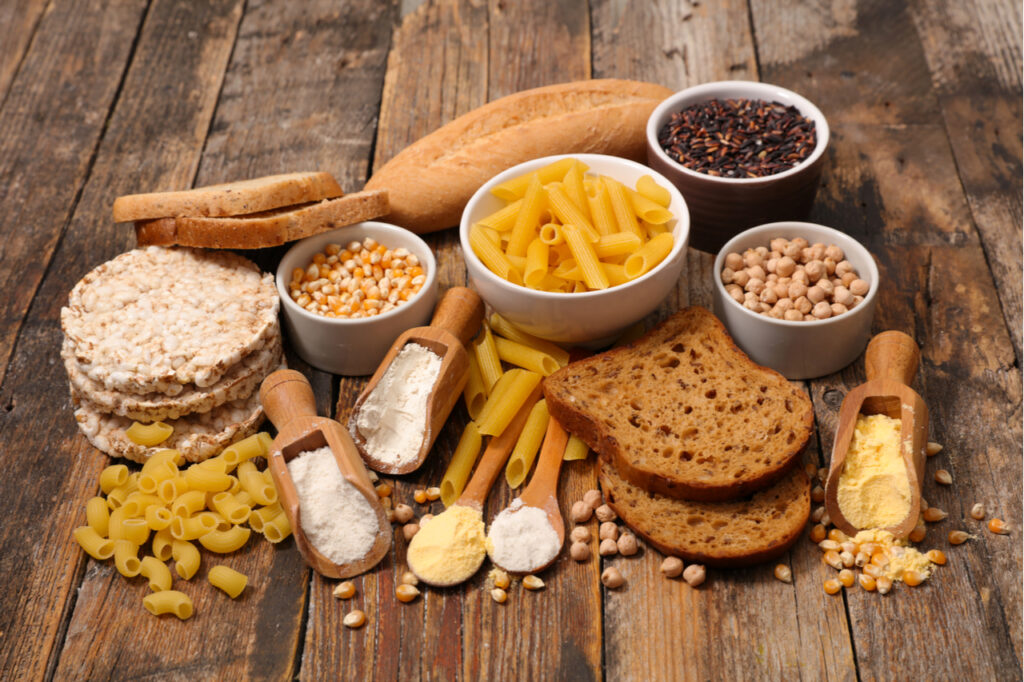 Selection of gluten free food.
