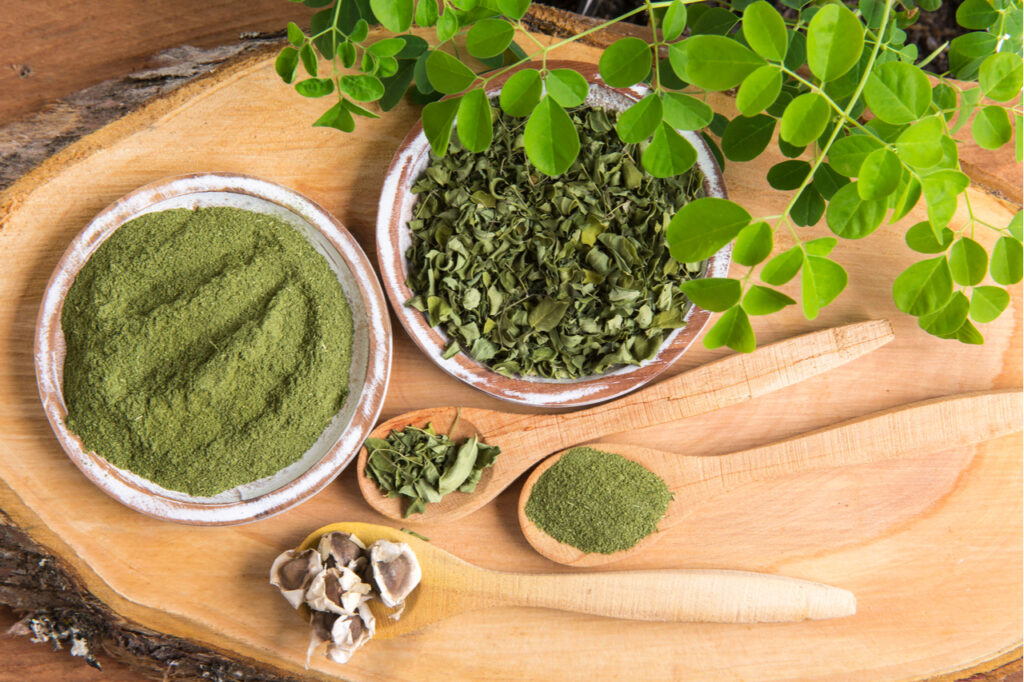 Ingredients may contain Moringa, leaves, seeds in making greens supplements.