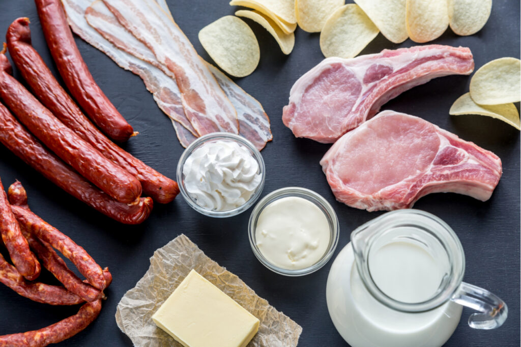 Sources of saturated fats.