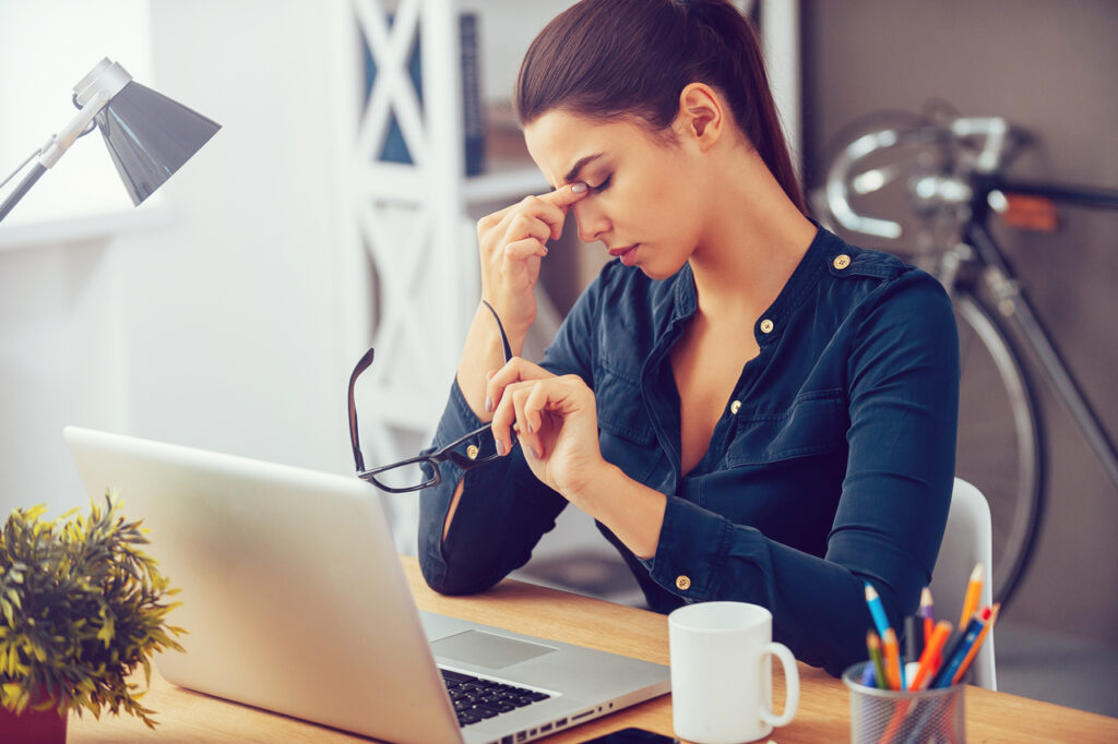Frustrated young woman needing to know how to reduce stress.