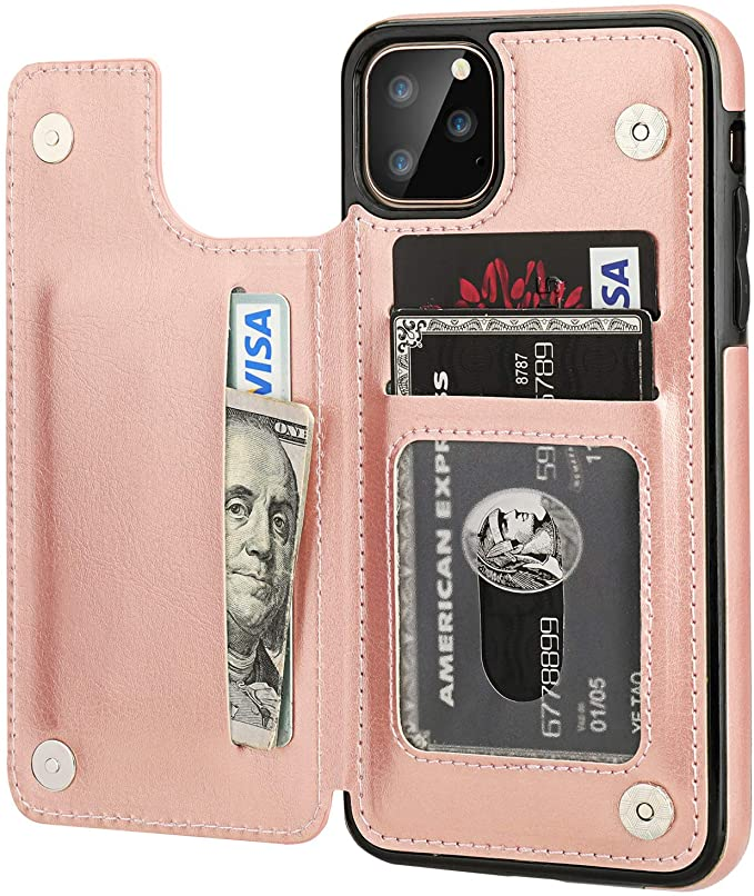 iPhone 11 Pro Max Wallet Case with Card Holder
