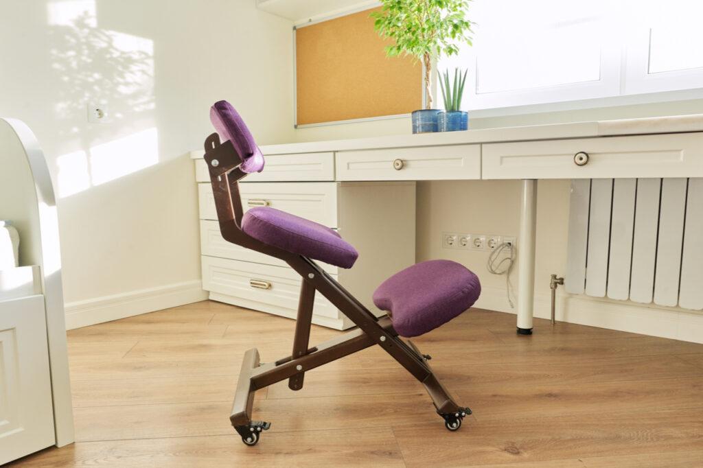 Orthopedic ergonomic kneeling chair like the dragonn kneeling chair.