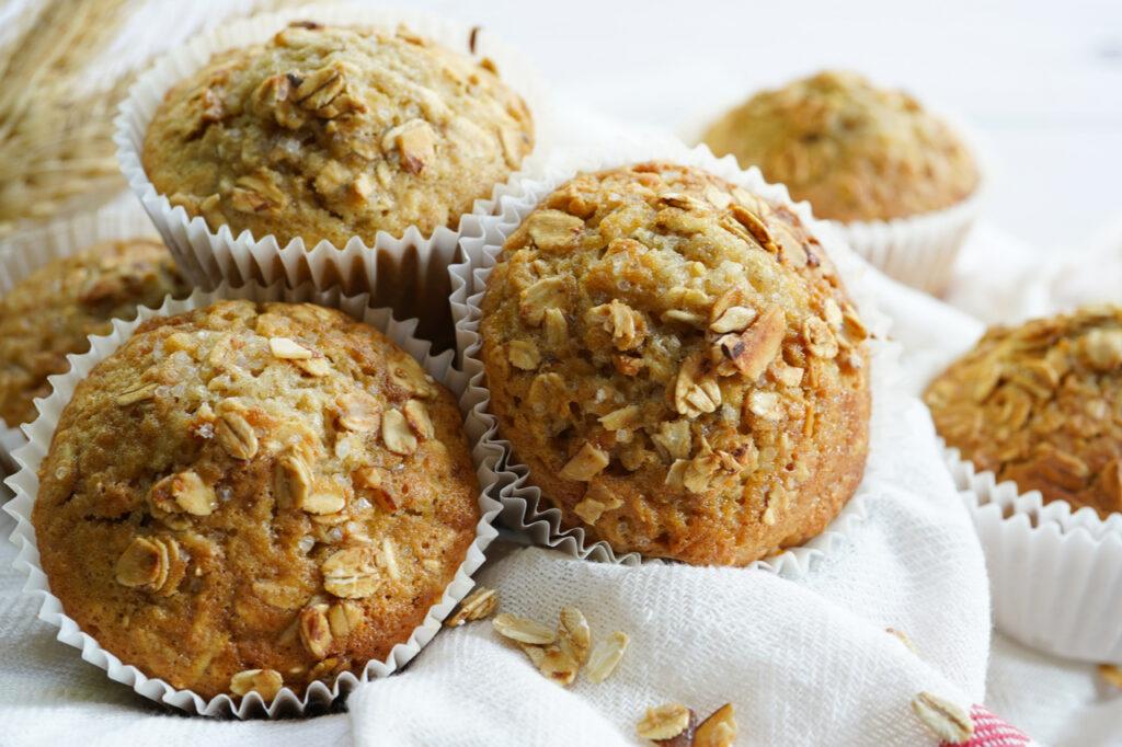 Homemade oatmeal muffins.