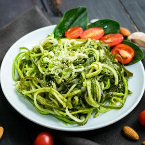 Avocado Pesto Zucchini Pasta