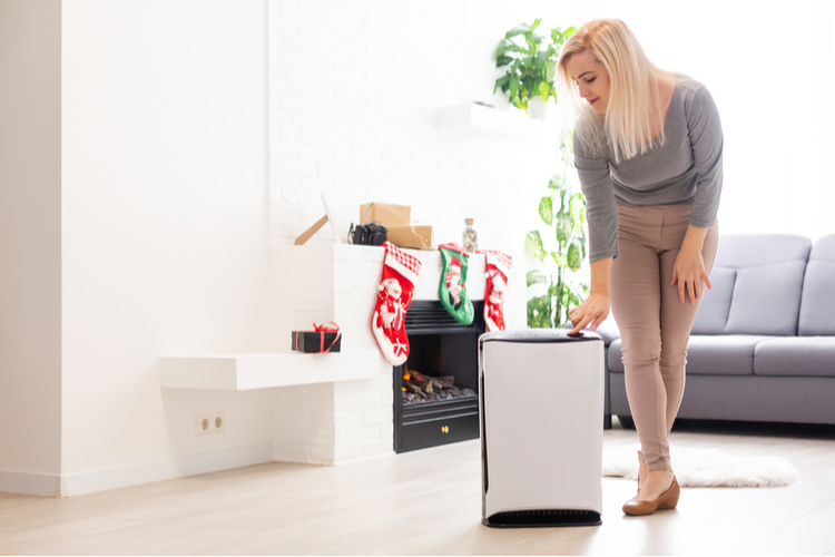 Humidification air in apartment during period self-isolation due coronavirus pandemic.