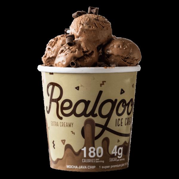 Realgood Super Premium Mocha Java Chip Ice Cream