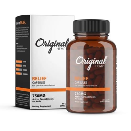 Relief Capsules (750mg) | Full Spectrum Hemp Extract