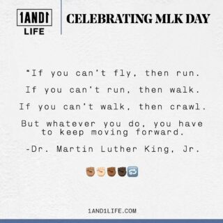 Happy #MLKDay! ✊🏾✊🏻✊🏿✊🏽  In addition, today is the first day of the #1AND1Challenge. Our team is proud, grateful and excited to help the 50+ people that signed up get out of their comfort zone and start 2021 with a bang! We hope all of you are enjoying the digital experience so far.   This quote from MLK speaks to the core of wellness, and our philosophy at 1AND1 Life. You don't have to make huge strides each day, but you do have to get 1% better each day, even if that means getting out of bed in the morning and taking that first step. Every movement forward matters — no matter how big or small. 🖤 #1AND1Way